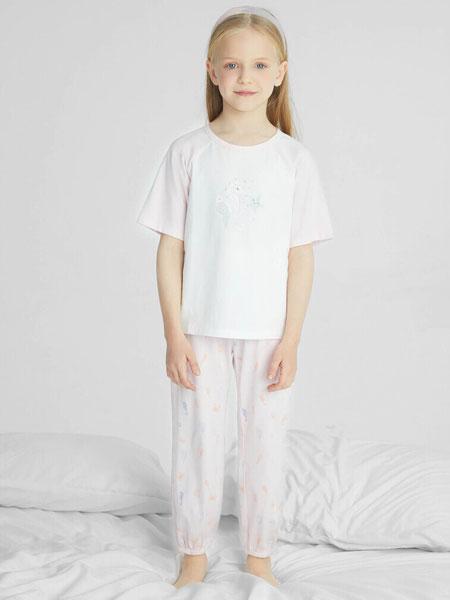 安奈儿童装品牌2021春夏宽松中袖透气T恤