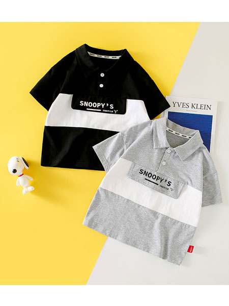 史努比/凯蒂猫/小叮当/迪士尼童装品牌2021夏季POLO衫帅气上衣