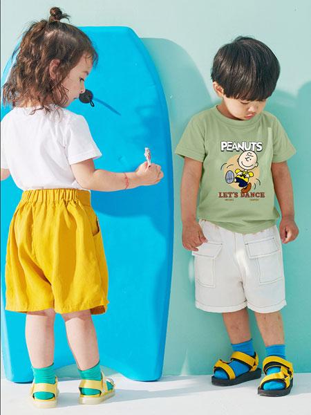 史努比/凯蒂猫/小叮当/迪士尼童装品牌2021夏季纯棉儿童t恤