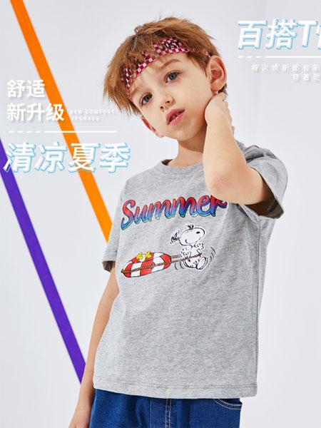 史努比/凯蒂猫/小叮当/迪士尼童装品牌2021夏季潮流卡通舒适百搭大童短袖