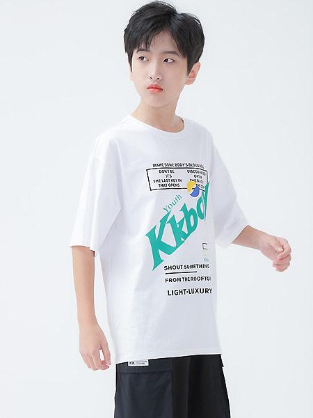 今童王2021夏季�棉抑菌T恤