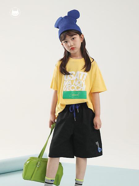 童装品牌2021夏季潮流宽松女童短裤薄款运动裤