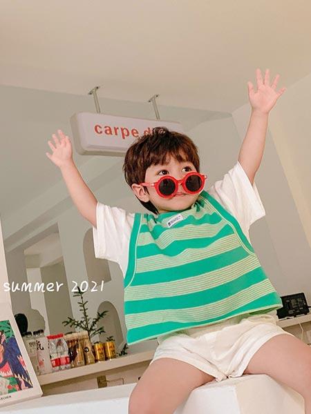 9厘米童装童装品牌2021夏季韩版条纹短袖
