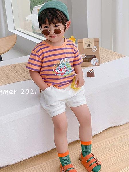 9厘米童装童装品牌2021夏季开飞机印画T恤