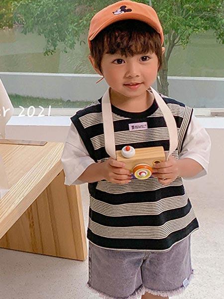 9厘米童装童装品牌2021夏季圆领短袖上衣
