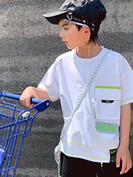 IXIT童装品牌2021夏季个性大口袋嘻哈T恤