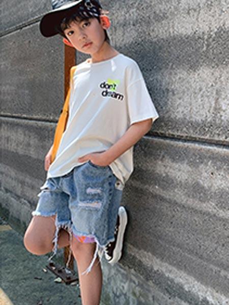 IXIT童装品牌2021夏季韩版字母T恤