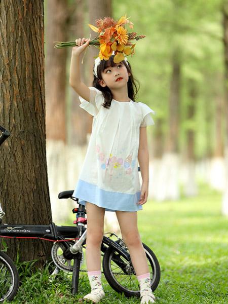 蒙蒙摩米 Mes amis童�b品牌2021夏季甜美可�圻B衣裙