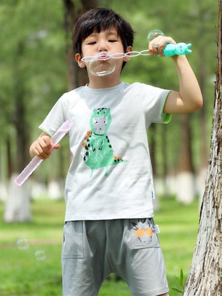 蒙蒙摩米 Mes amis童�b品牌2021夏季奇想印��恐��T恤