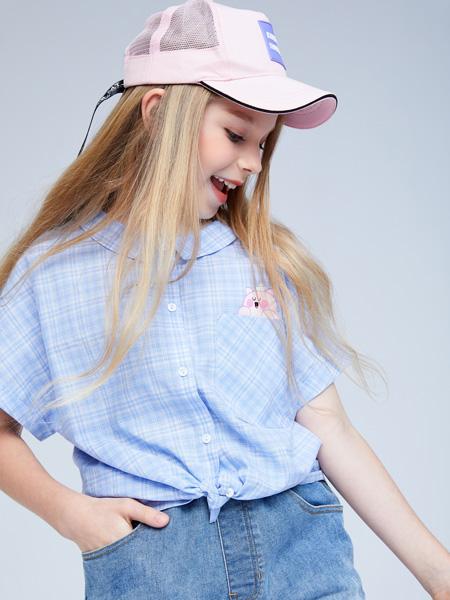 艾艾屋童�b品牌2021夏季棉麻速干t恤衫