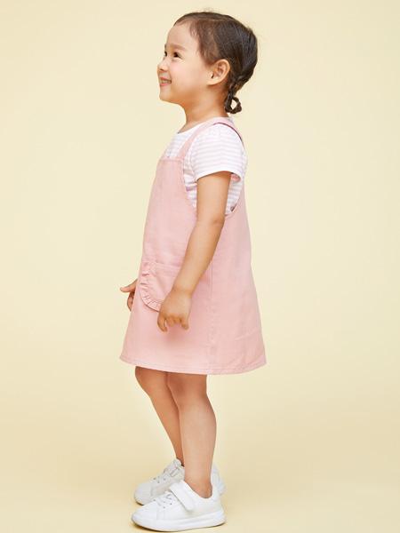 艾艾屋童�b品牌2021夏季粉色吊��裙