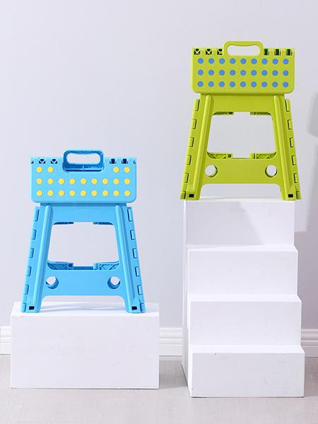 嘟萌贝婴童用品加厚塑料折叠凳子家用省空间儿童成人户外便携式小凳子