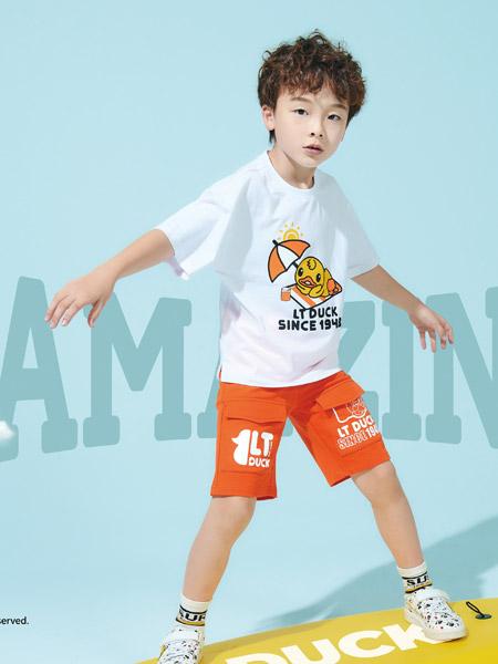 小黄鸭童装品牌2021夏季度假小黄鸭T恤