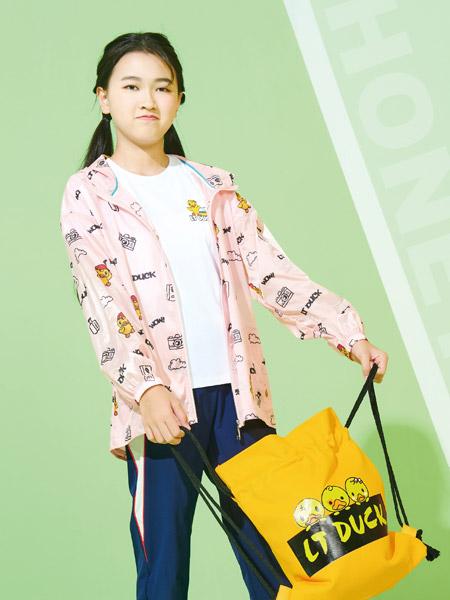 小黄鸭童装品牌2021夏季小黄鸭印花外套