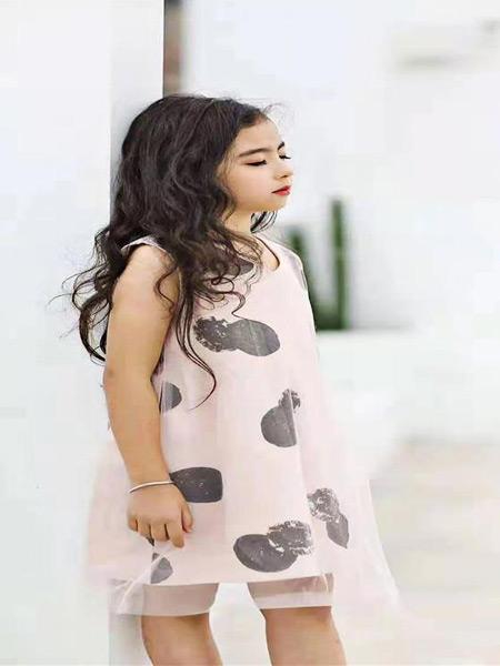 萌豆童装童装品牌2021夏季纯棉连衣裙纱纱裙