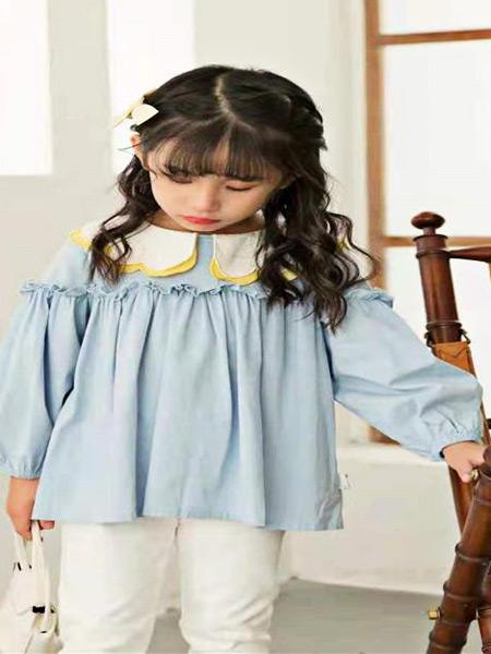 萌豆童装童装品牌2021夏季气质款洋气衬衣套装