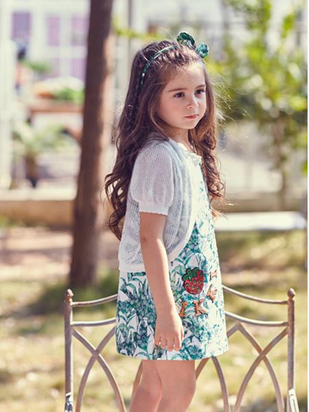偲童童装品牌2021夏季短款外套半身裙