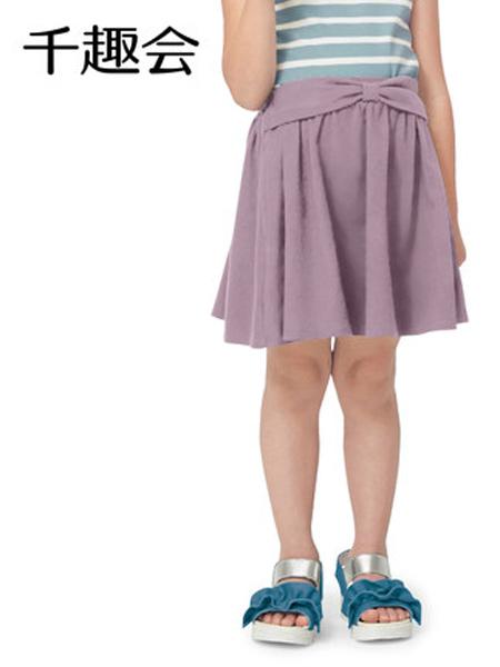 日本千趣会童装品牌2021春夏儿童装半身裙公主风蝴蝶结纯棉女童宝宝短裙裙子