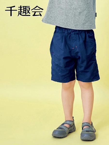 日本千趣会童装品牌2021春夏儿童装沙滩裤清凉易干男童女童宝宝中裤五分裤