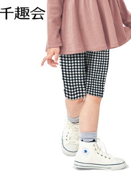 日本千趣会童装品牌2021春夏儿童装休闲中裤时尚清凉弹力纯棉女童五分裤裤子