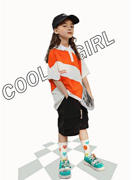 喔也童装品牌2021春夏潮童气质款T恤套装