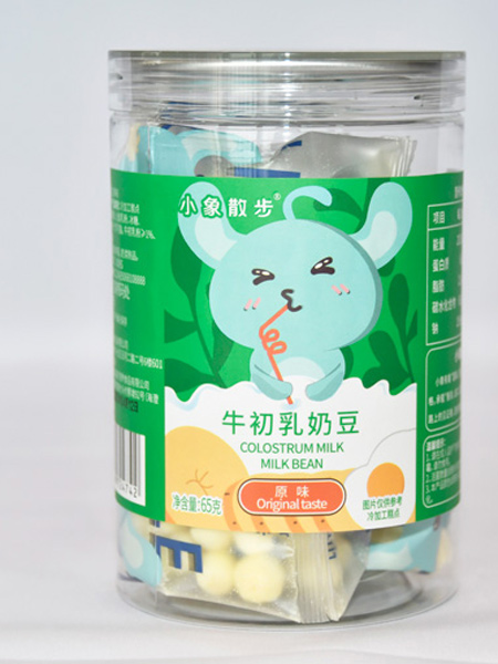 功夫小鸭婴儿食品小象散步牛初乳奶豆-原味