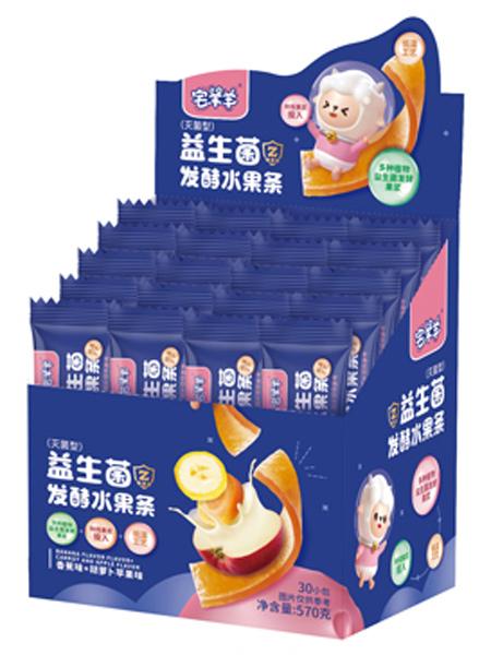 宅羊羊婴儿食品益生菌发酵水果条 草莓味+猕猴桃味