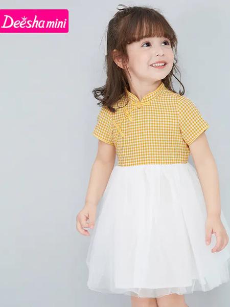 笛莎童�b品牌2021夏季改良版上身旗袍�B衣裙