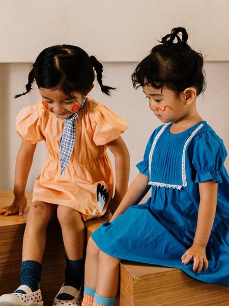 Mayosimple五月童品童装品牌2021春夏纯棉泡泡袖连衣裙