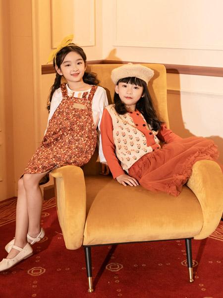 棉绘童装品牌2021秋冬羊绒衫上衣套装