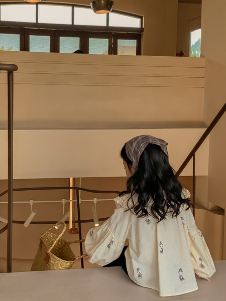 洛小米童装品牌2021夏季卡通印花上衣