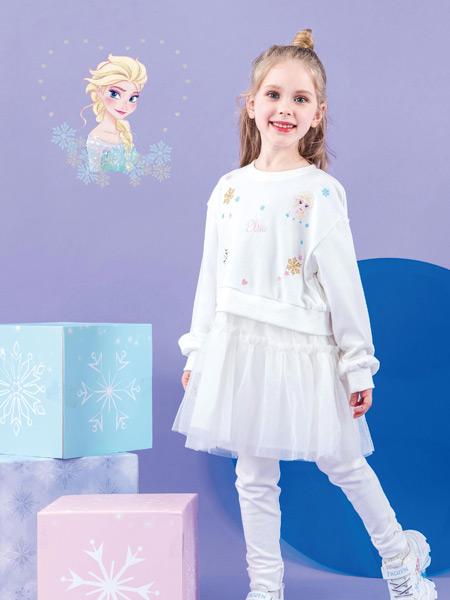 M.M party国际女童IP集成店童装品牌2021秋季艾莎公主刺绣针织衫套装
