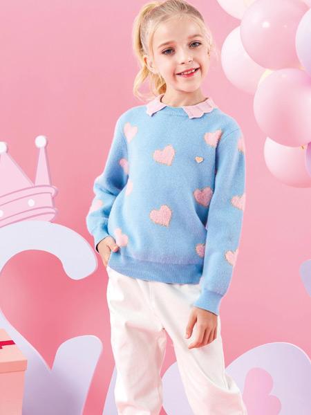 M.M party���H女童IP集成店童�b品牌2021秋季粉色�坌拇汤C��衫