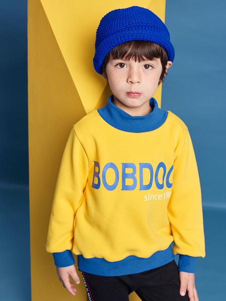 巴布豆童装品牌2021秋季潮流字母上衣