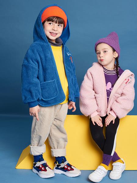 巴布豆童装品牌2021秋季羊绒外套套装