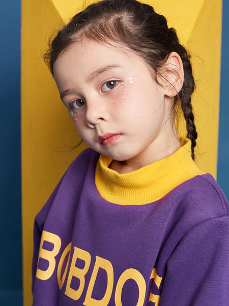 巴布豆童装品牌2021秋季紫色帅气上衣