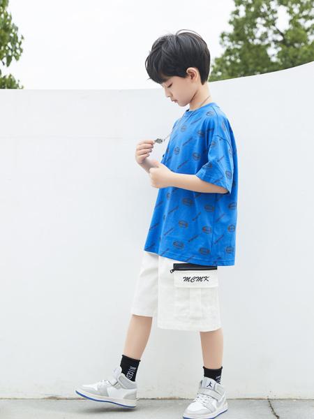 MCMK玛卡西童装品牌2021春夏刺绣印画T恤