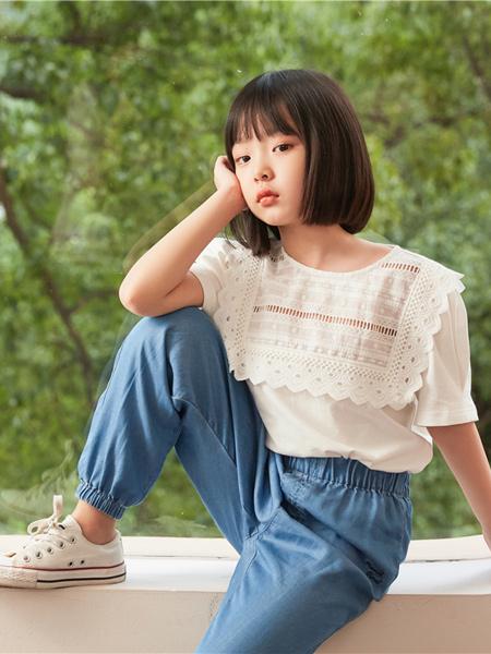 MCMK玛卡西童装品牌2021春夏圆领小清新T恤