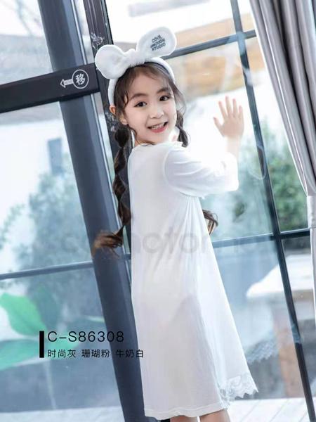 comotomo(O奈)童装品牌2021春夏纯棉透气睡衣裙