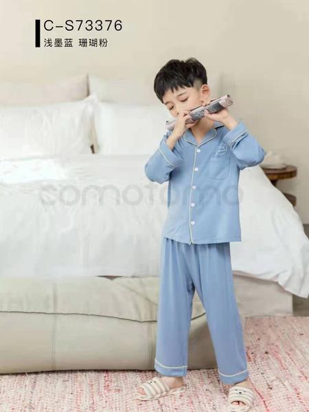comotomo(O奈)童装品牌2021春夏休闲冰丝睡衣