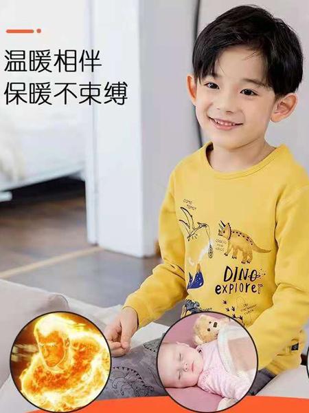 comotomo(O奈)童装品牌2021春夏恐龙印画家居服