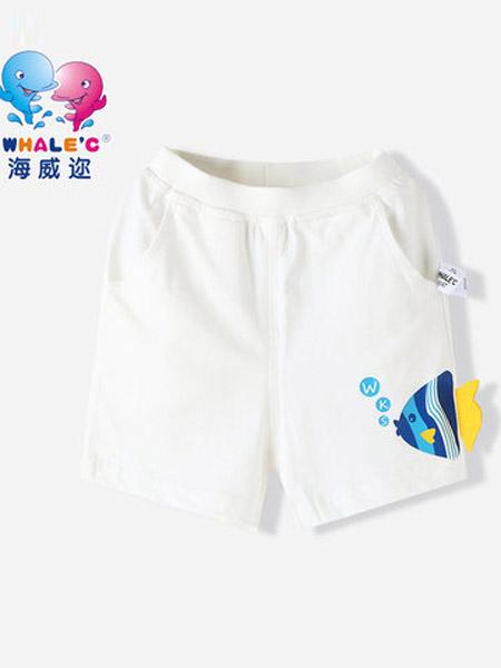 海威迩童装品牌2021夏季可爱鱼针织短裤