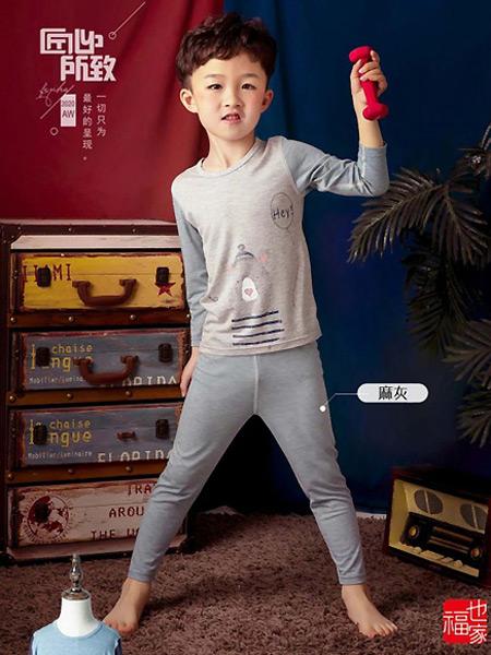 福也家童装品牌2021春夏小熊印花睡衣套装