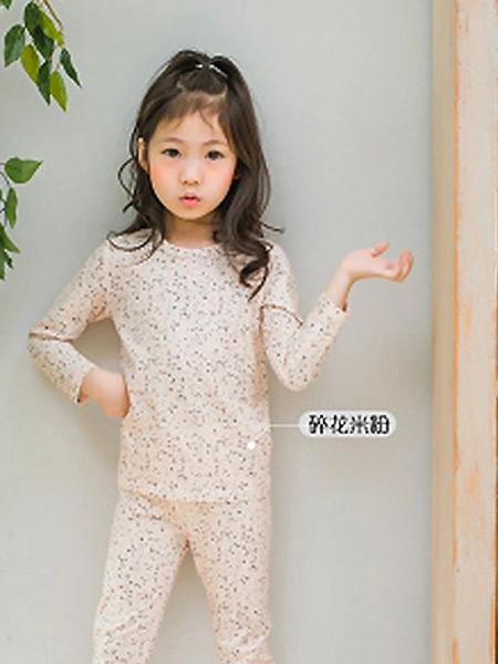 福也家童装品牌2021春夏碎花米粉睡衣套装
