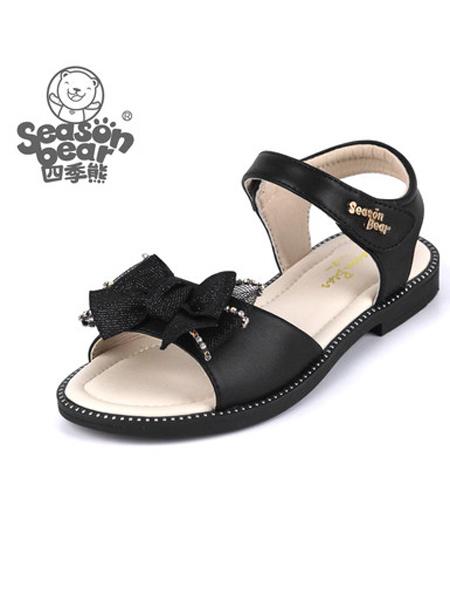四季熊童鞋品牌2021夏季新款�r尚夏季�W生中大童公主�底女孩童鞋