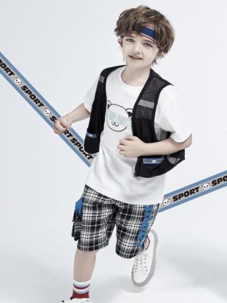 小才宝MT童装品牌2021春夏白色T恤刺绣