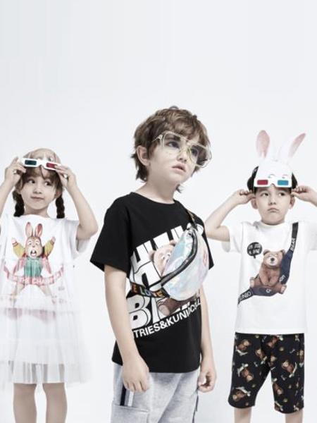 小才宝MT童装品牌2021春夏卡通印画T恤套装