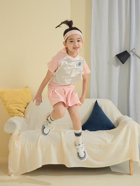 Moomoo童装品牌2021夏季粉色公主运动套装