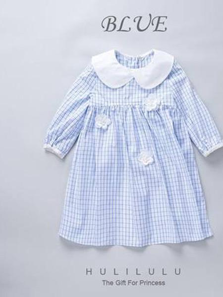 HULILULU呼尼噜噜童装品牌2021秋季纯棉薄中大儿童洋气格子公主裙