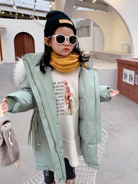 妙优童装品牌2021秋冬纯棉羊绒羽绒服外套